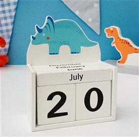 Dinosaur Block Calendar
