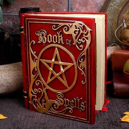 Red Spell Book Trinket Box