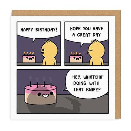 Birthday Comic Greeting Card