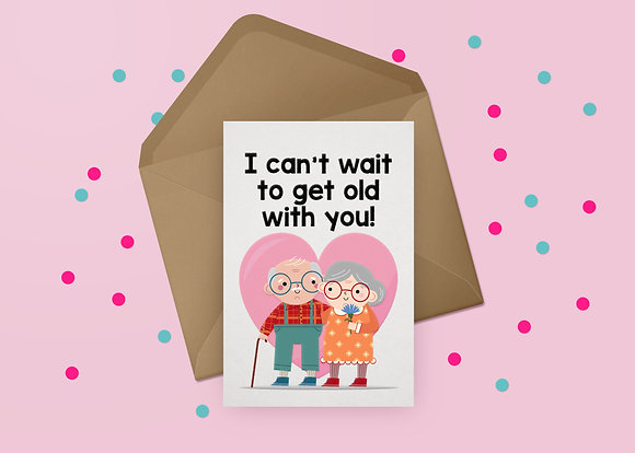 Getting Old Greeting Card