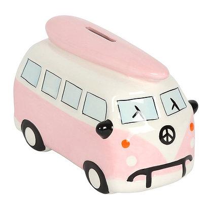 Pink Campervan Money Box