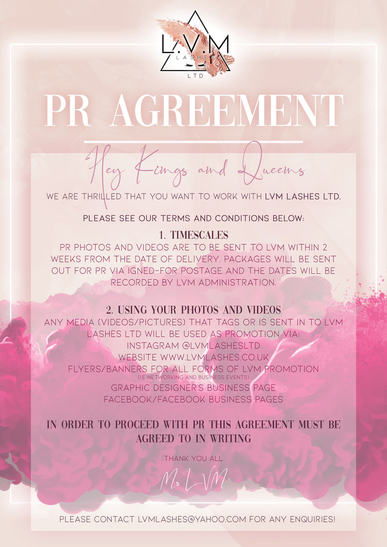 PR AGREEMENT
