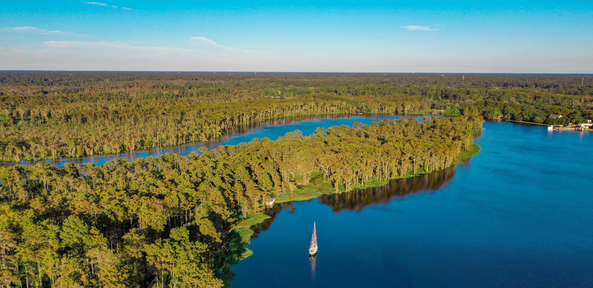 Aerial Photography, Tchefuncte River, Madisonville, Louisiana