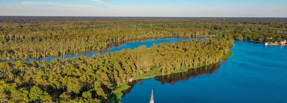 Aerial Photography, Tchefuncte River, Madisonville, Louisiana