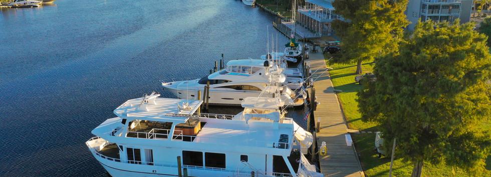 Aerial Photo, Sawmill Docks Marina, Madisonville, Louisiana