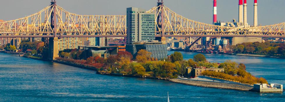 Aerial Photography Edkoch Queensboro Bridge, NYC, New York