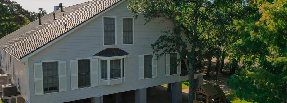Aerial View of Side of Home