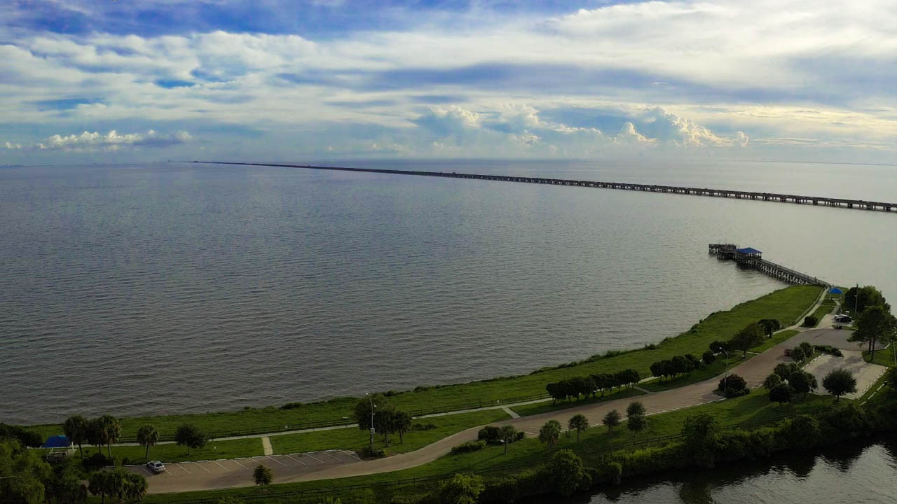 Aerial Footage of Lake Ponchartrain