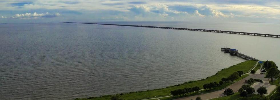 Aerial Footage of Lake Ponchartrain
