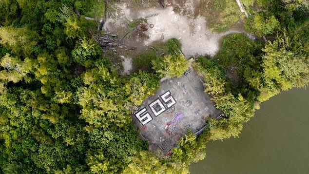 Aerial Graffiti Art Shoot