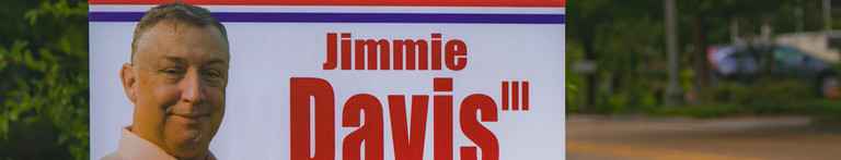 Jimmie Davis campaign sign on road