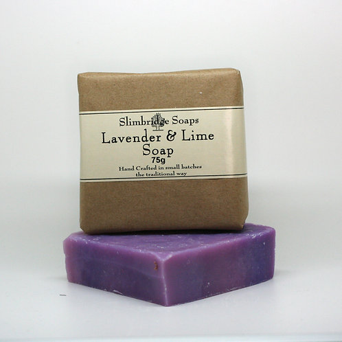 Lavender & Lime Soap & Packaging