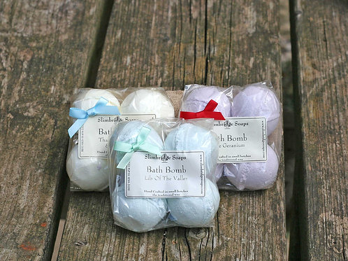 Triple Pack of Bath Bombs - Choose your own Fragrances