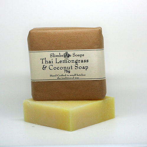 Lemongrass & Coconut Soap & Packaging