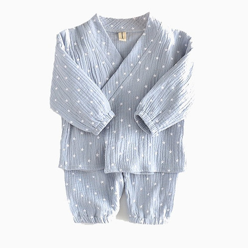 Blue Star Kimono Pajamas
