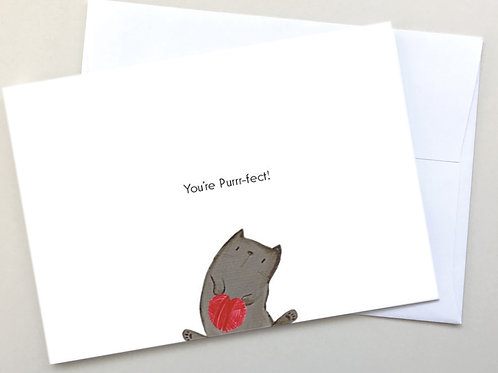"""""""You're Purr-fect!"""" card"""