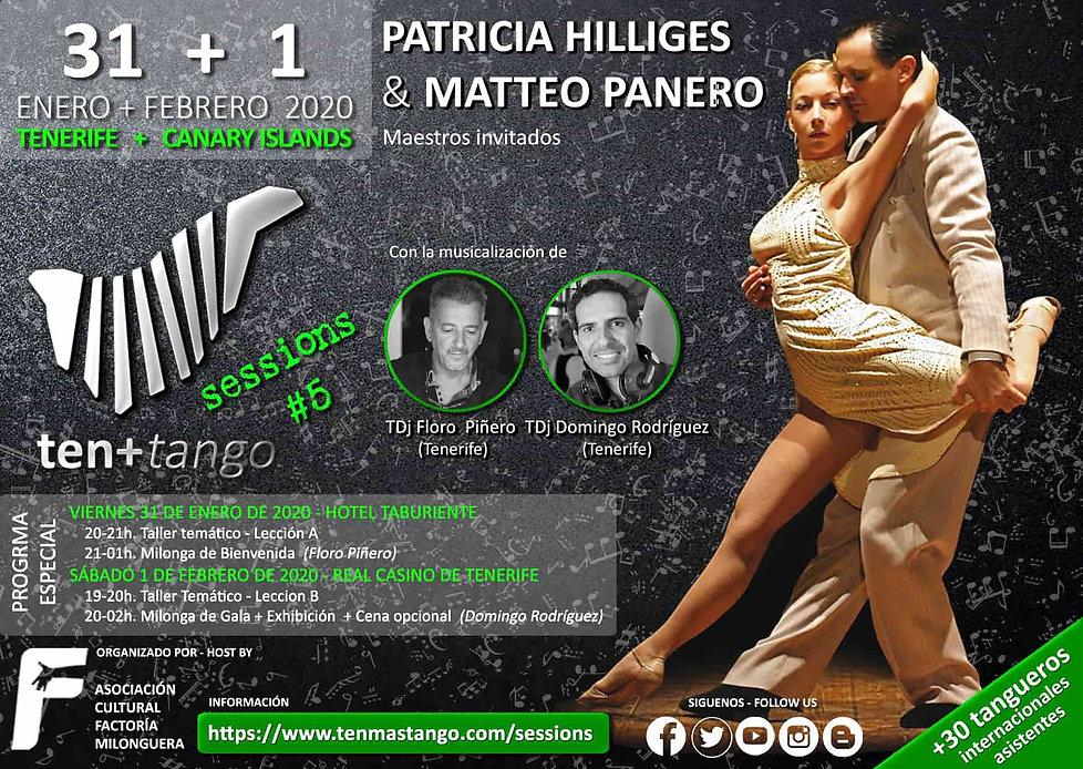 Tenerife Canarias TEN+TANGO SESSIONS #5  Viernes 31 de Enero y 1 de Febrero de20120  Hotel Taburiente y Real Casino de Tenerife  Patricia Hilliges y Matteo Panero ( Florencia /Italia )