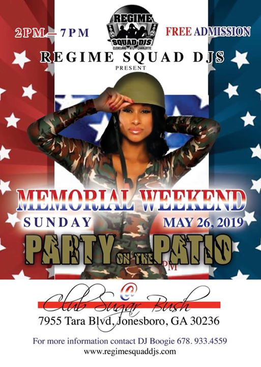 Sunday May 26th, Come out and party with