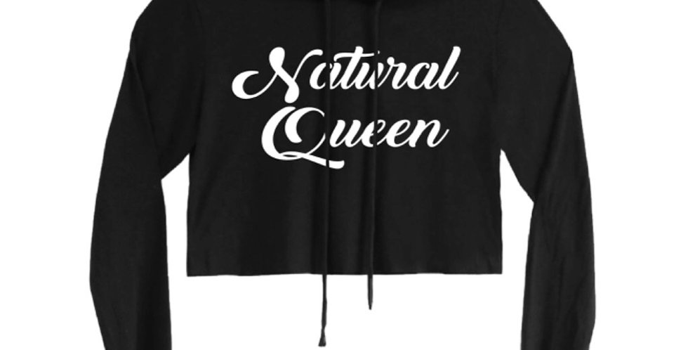 Natural Queen Crop Top w/ Hoodie