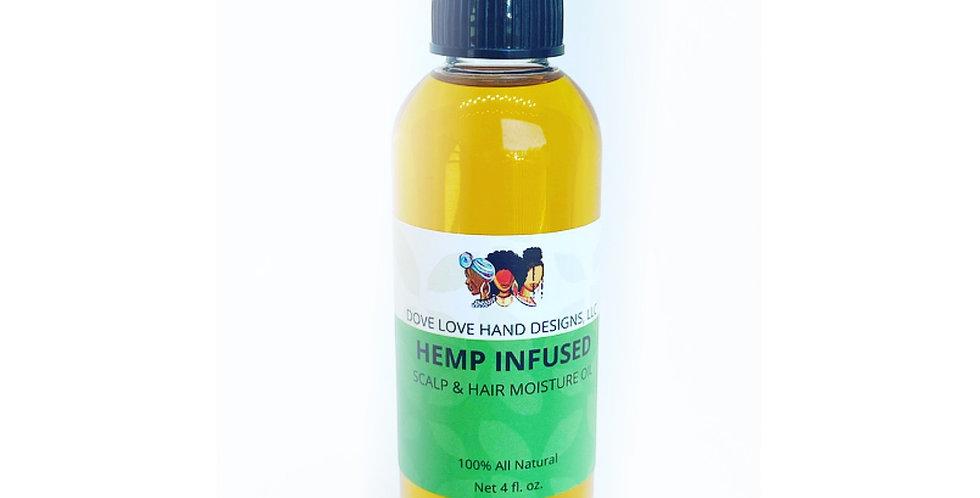 Hemp Infused Scalp & Hair Moisture Oil