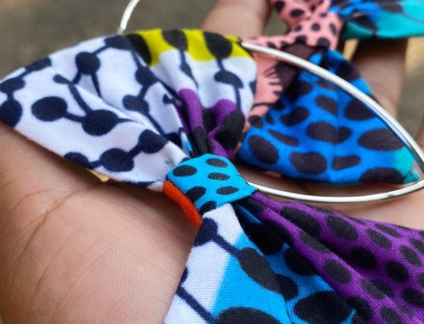 African Fabric Print Earrings