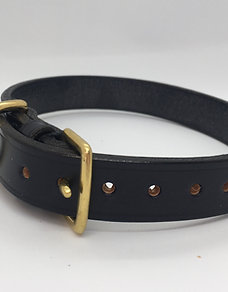 Hand-made classic British dog collar - Navy Blue