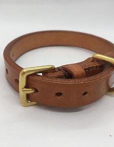 Hand-made classic British dog collar - Honey