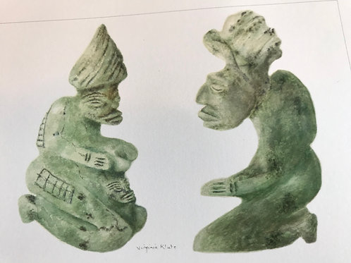 Mayan Jade Figures