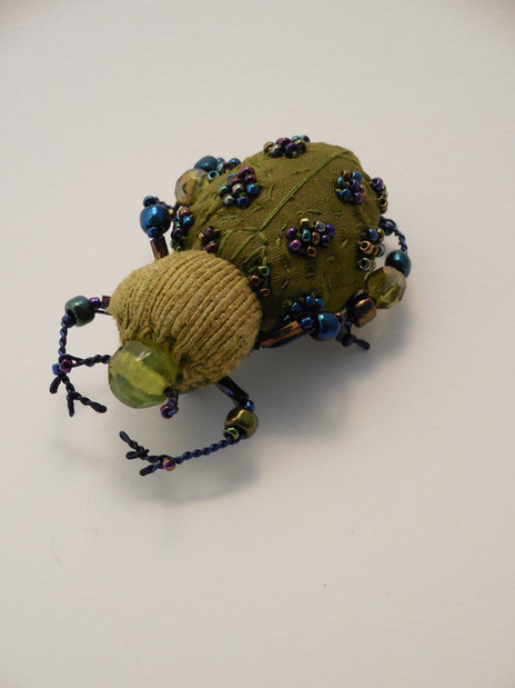 scarabée kaki et pétrole
