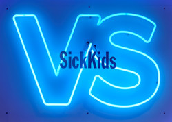 SickKids Foundation neon sign cropped