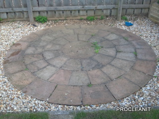 Stone circle before cleaning
