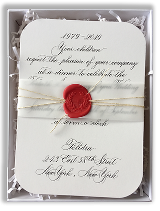 Custom Boxed Invitation, Calligraphy Invitation