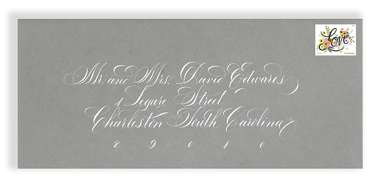 Envelope Calligraphy, Wedding Calligrapher, Calligrapher
