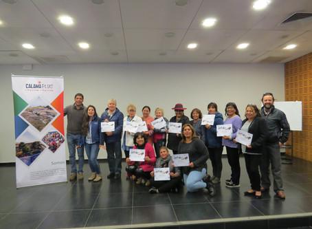 Dirigentes obtuvieron certificación en Cultivos en Zonas Áridas y Desérticas.