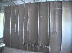 Aplicación de tablaroca en muros