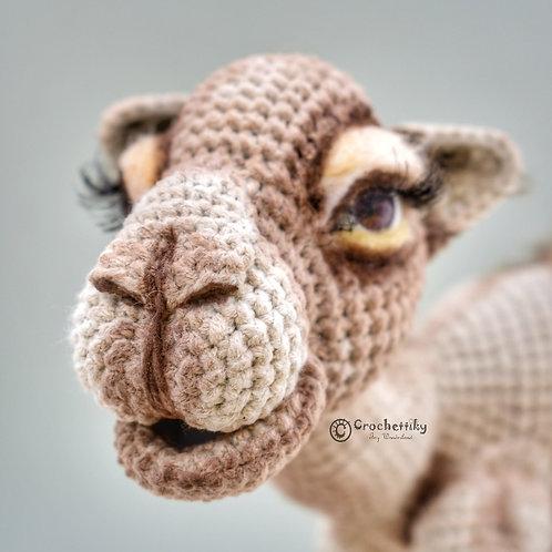 Crocheted art toy Camel