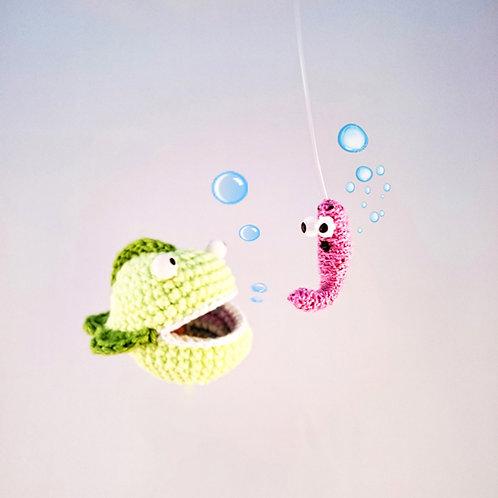 "Crochet pattern of game ""Fishing"" (Amigurumi tutorial PDF file)"