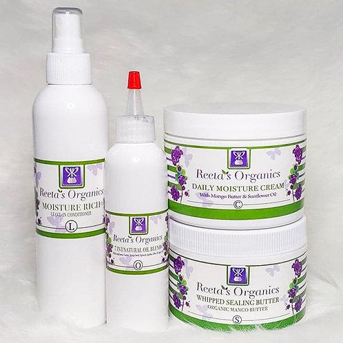 L.O.C.S. Method  (Leave-In, Oil, Cream, Sealant) Kit
