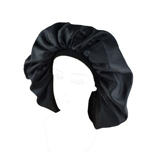 BLACKITY-BLACK Satin Bonnet
