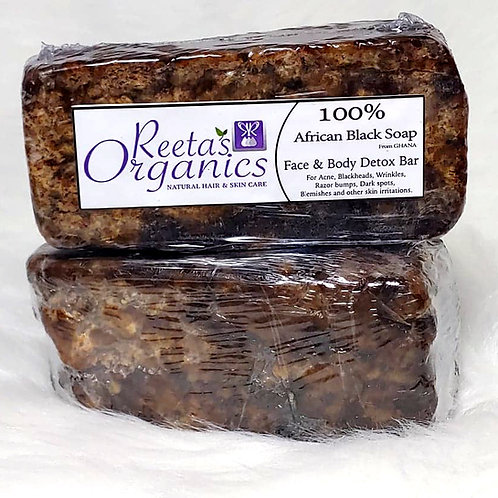100% Authentic Raw African Black Soap