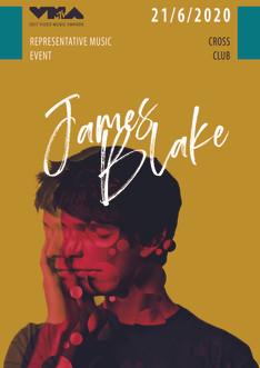 James Blake advert poster