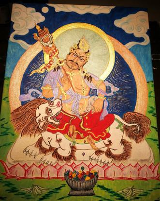 Tibetan Thangka - Kubera
