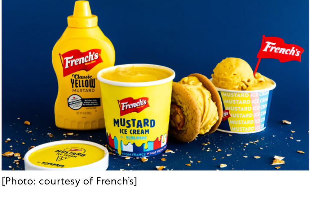 French's Yellow Mustard Ice Cream