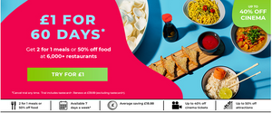 Grab 60 Days Of Taste Card Benefits For a pound