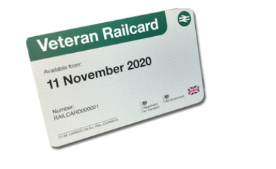 Veterans to be added to rail travel discounts already offered to serving members of the Armed Forces and their spouses, which offers up to 30 per cent off rail travel across the UK