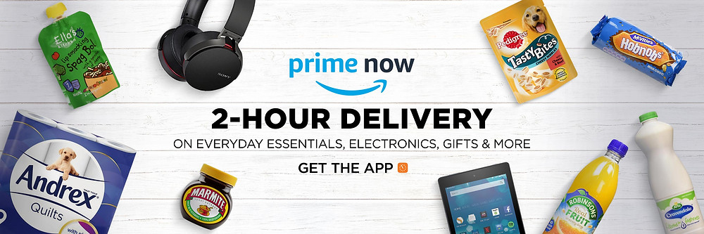 £10 off a £50 order via Amazon Prime Now