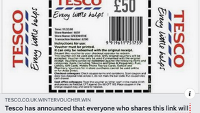 Beware Of A £50 Tesco Voucher Scam  Doing The Rounds..