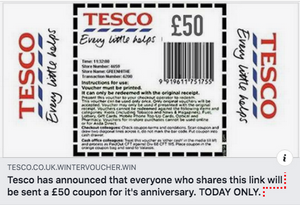 Beware of this fake £50 voucher doing the rounds on social media