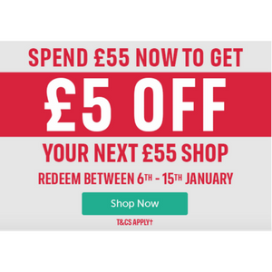 £5 Off A £55 Spend At Iceland This January!