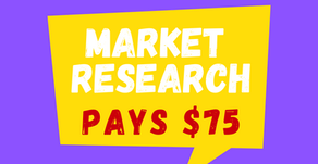 Researchers Market Research Project Pays $75 (UK)